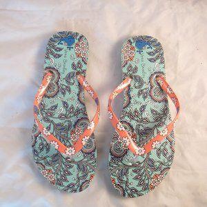 Vera Bradley Floral Flip flops sandals 7-8